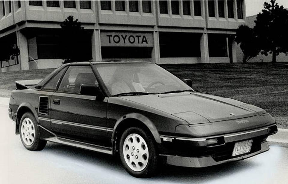 The highly angular 1984 MR2 put the 70s on notice.