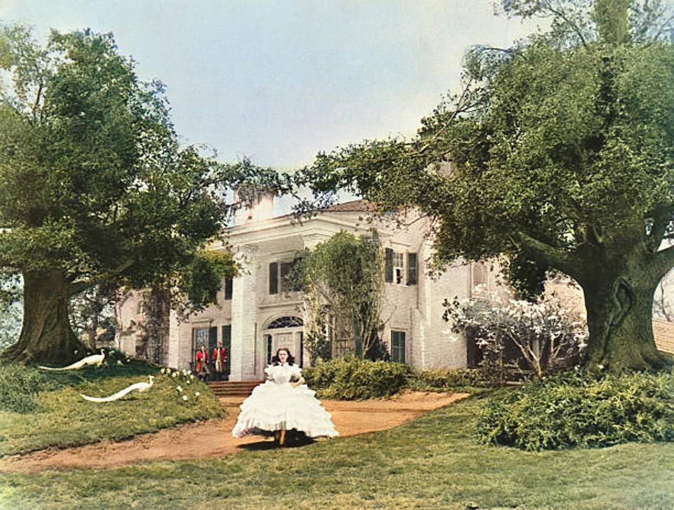 A plantation house used in the filming of Gone With The Wind is for sale.