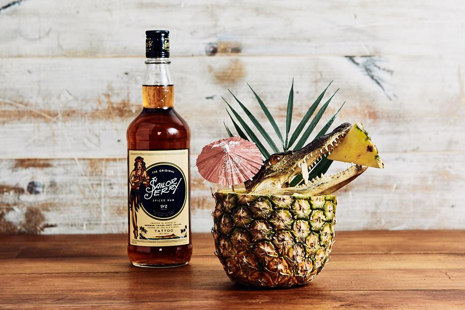 Sailor Jerry I Like Pina Coladas by Ashley Thomas