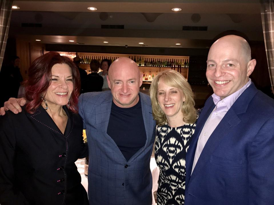 Multi-Grammy winner/Gun Control Advocate Rosanne Cash with Commander Kelly, Betsy Zimmerman and Ed Zimmerman (New York, May 2017)