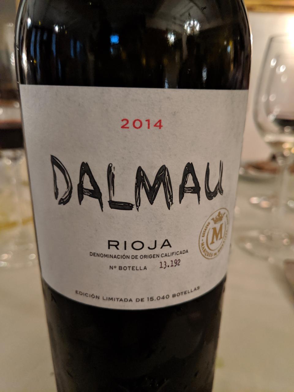 Bottle of 2014 Dalmau