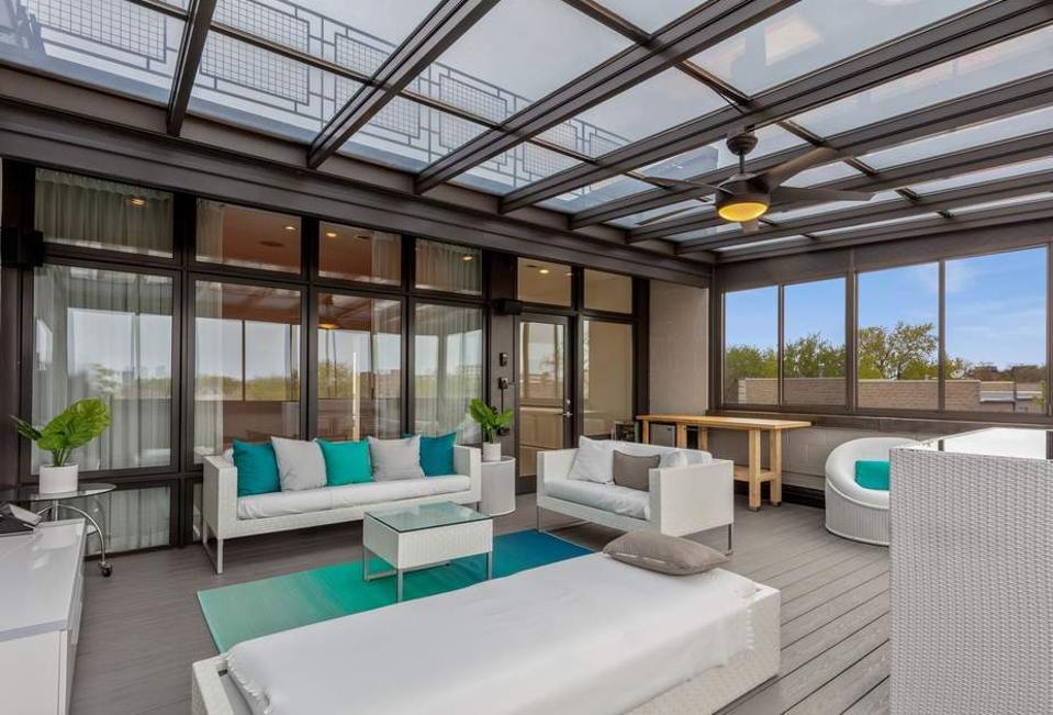 Terrace at Ozzie Guillien home