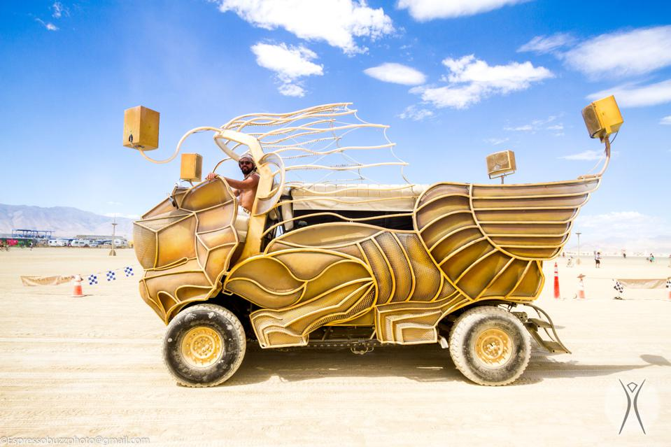 Mutant vehicles are part of the outrageous artistic expression at Burning Man 2017