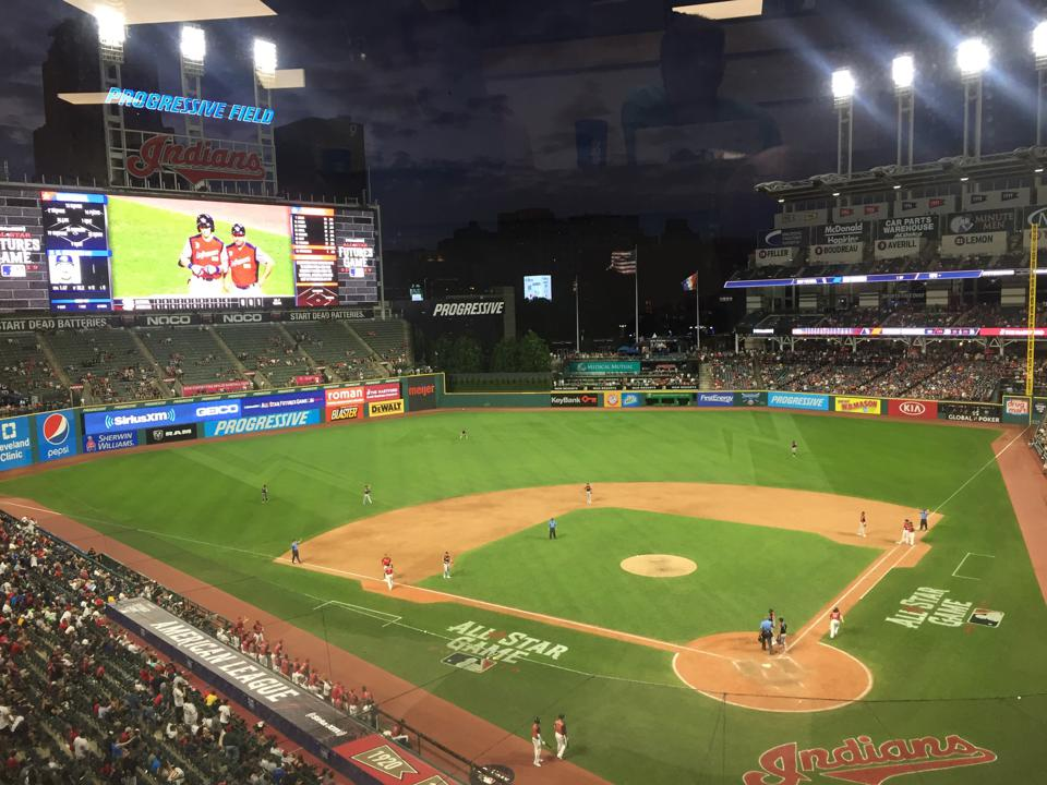 2019 Futures All-Star Game, as seen from the press box