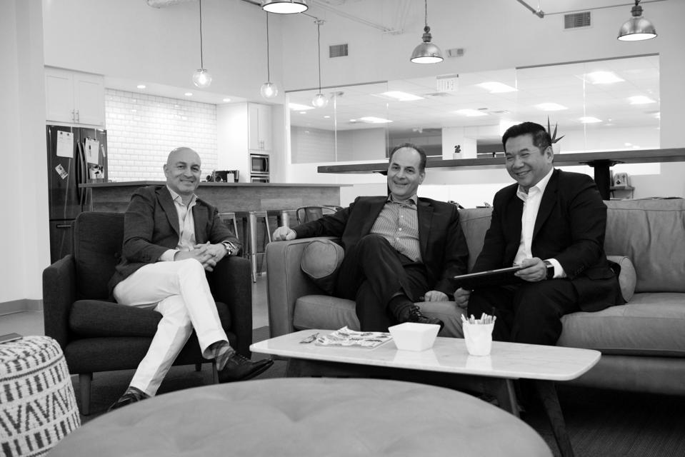 Scopus Ventures Partners Eran Gilad, Bahram Nour-Omid and Robert Mai, at their LA office.