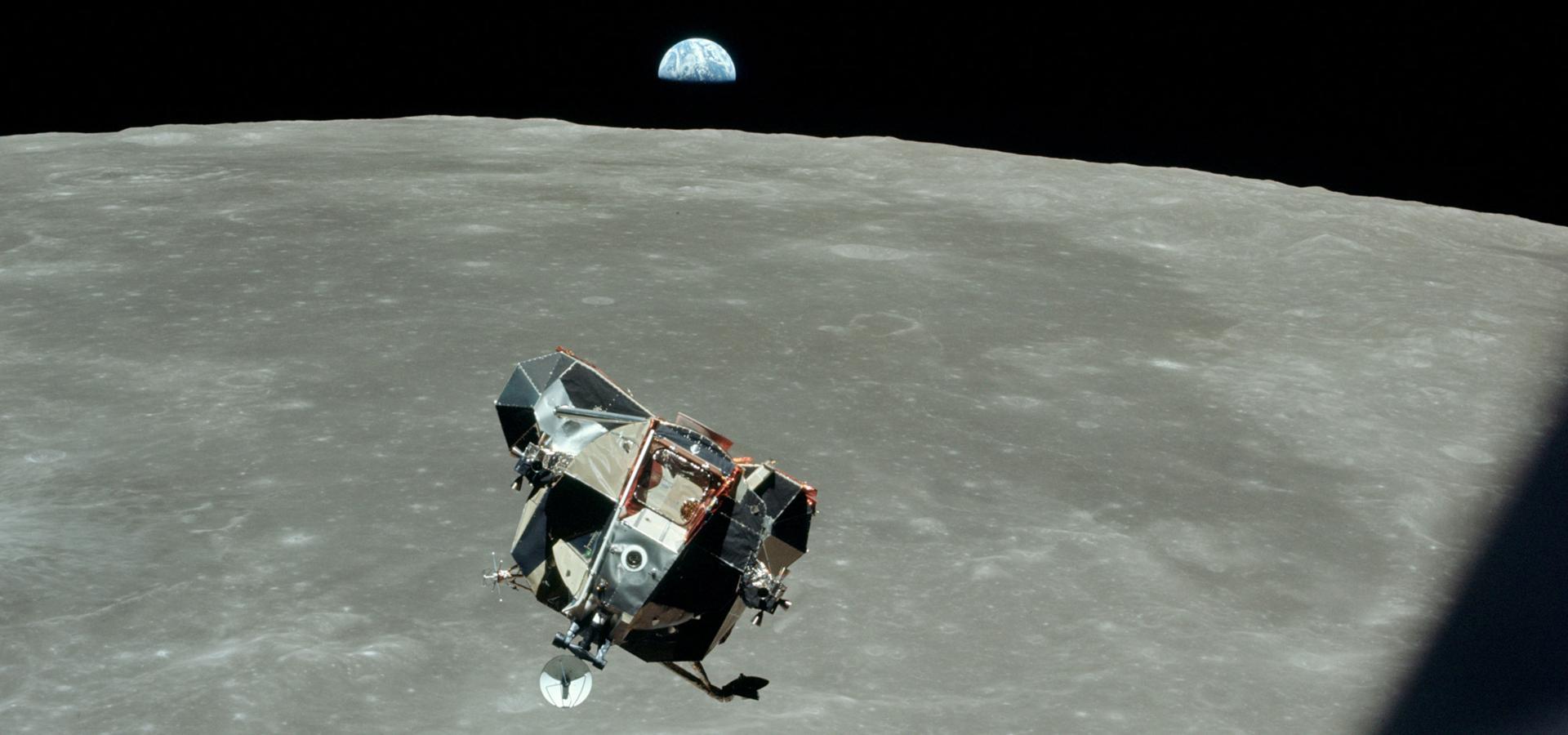 LEM ascent to command capsule apollo 11