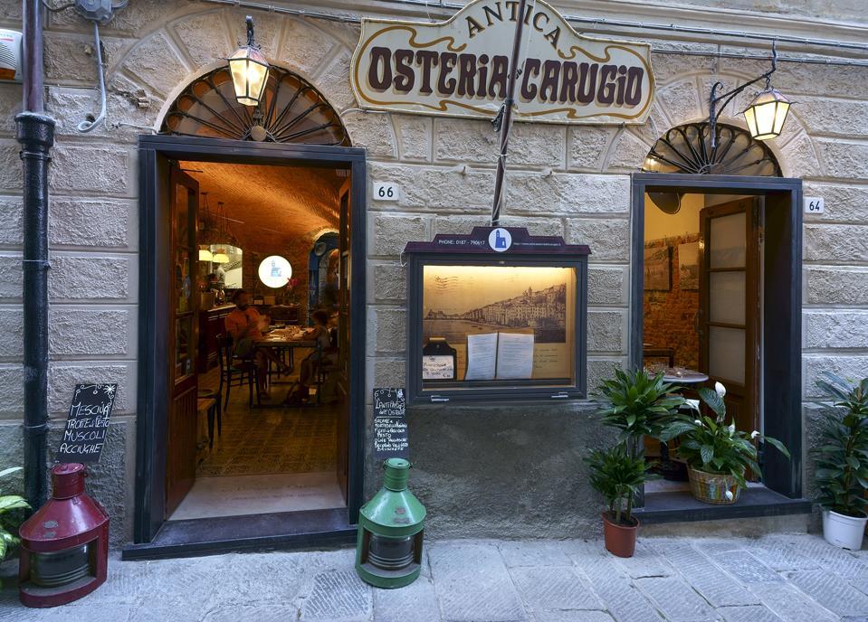 The Antica Osteria del Carugio, in Portovenere's historic center.