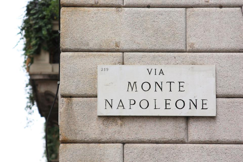 Via Monte Napoleone, one of the most famous shopping streets in the world
