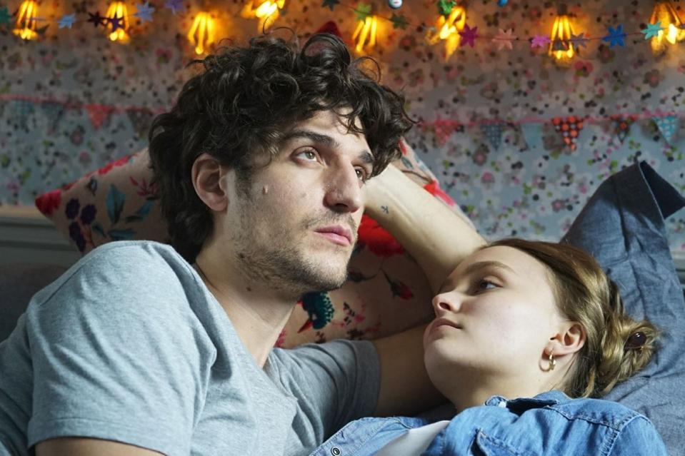 Louis Garrel and Lily-Rose Depp in Garrel's new film, A FAITHFUL MAN