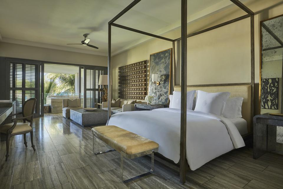 Bedroom at the Four Seasons Resort & Residences in Anguilla
