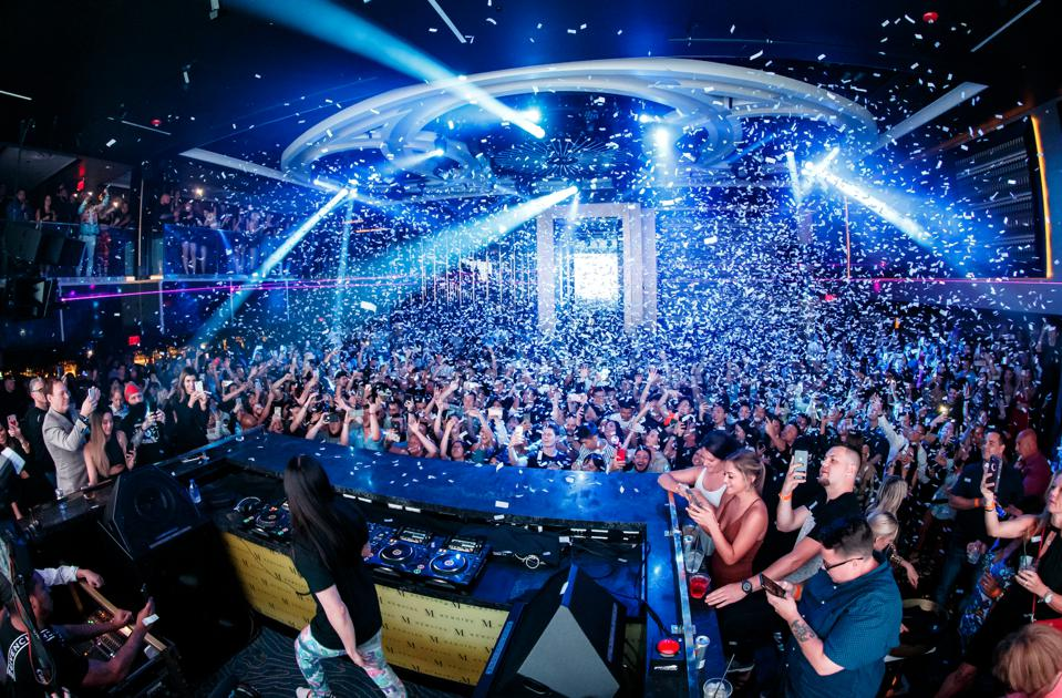 BOSTON, MA - Steve Aoki performs at Memoire nightclub at the Encore Boston Harbor