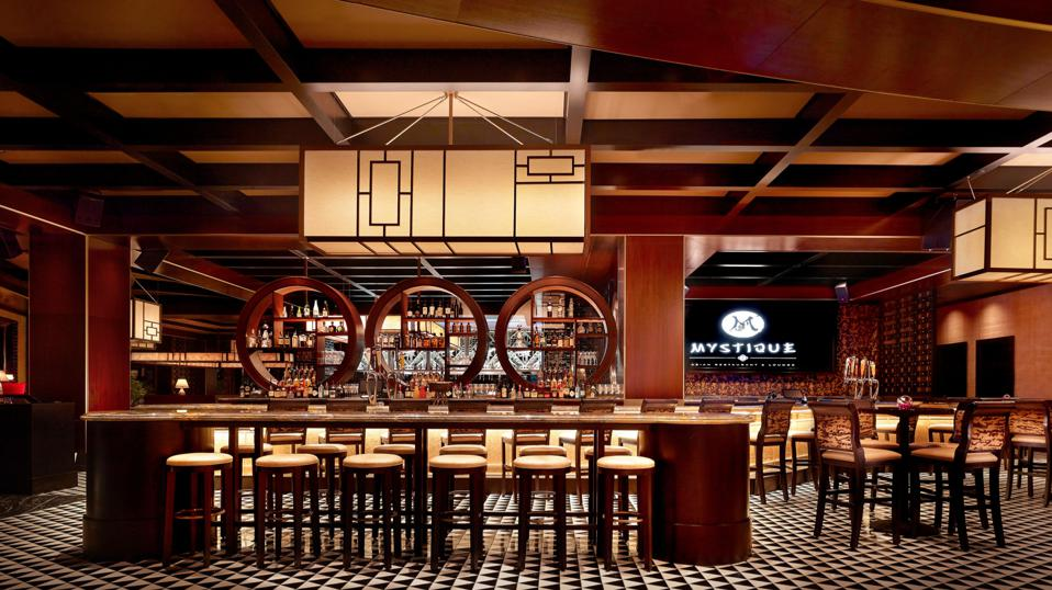 EVERETT, MA - Mystique restaurant at Encore Boston Harbor