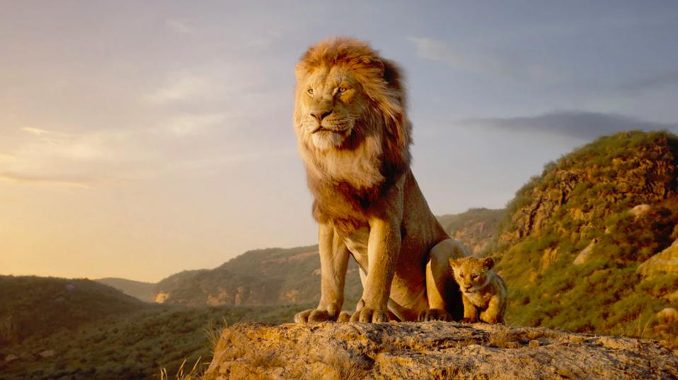 Mufasa and Simba in Disney's ″The Lion King″