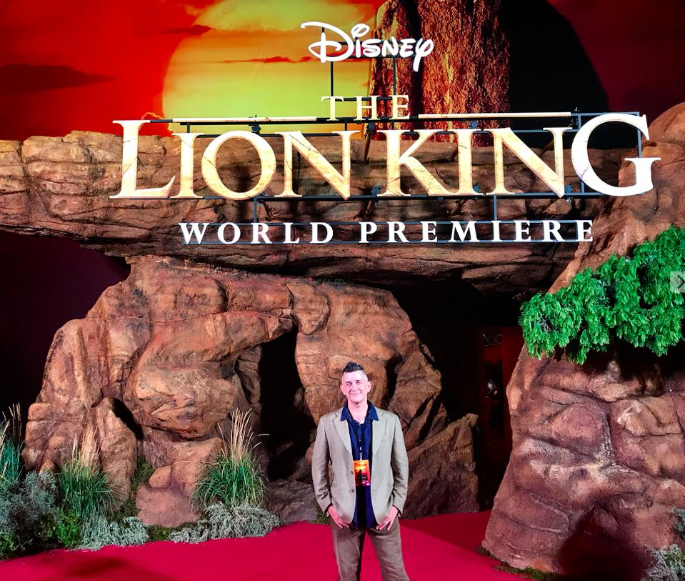 Mark Hughes at the LA premiere of ″The Lion King″