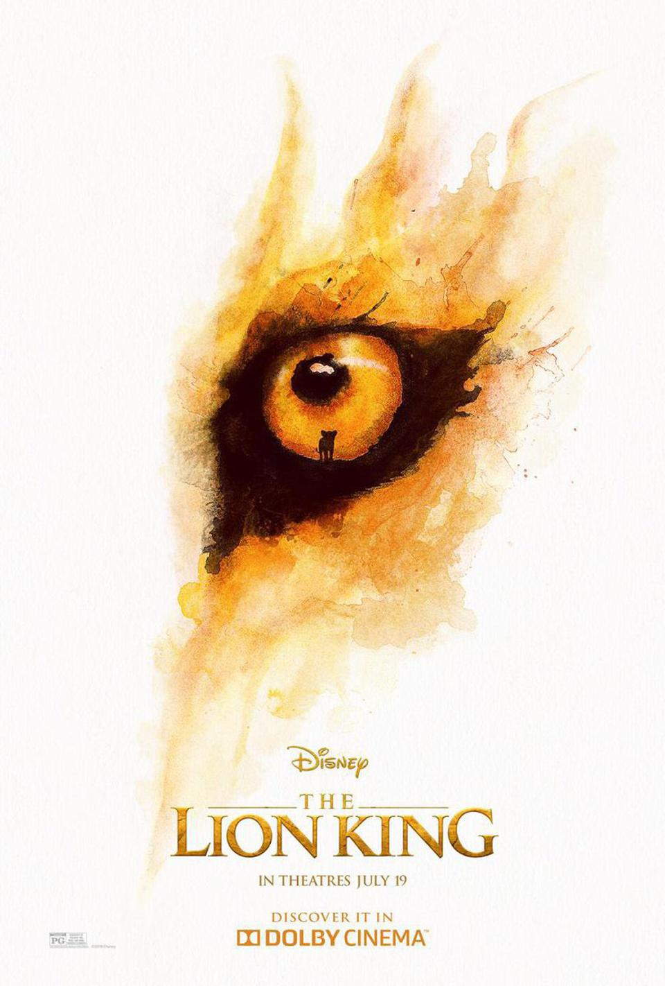 Official Dolby Cinema poster for Disney's ″The Lion King″