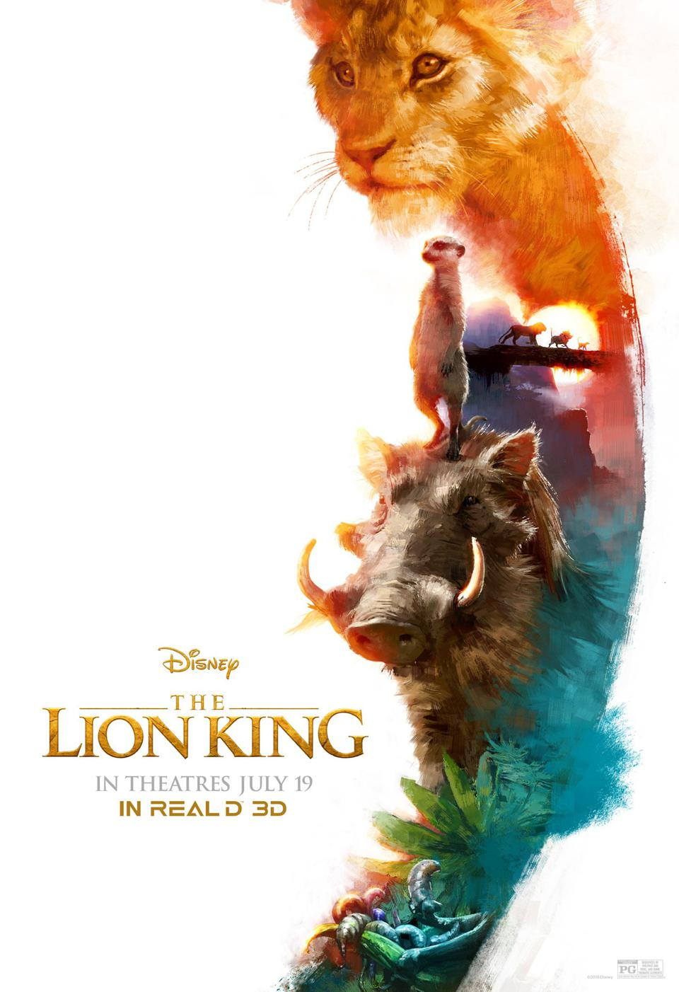 Official AMC RealD 3D poster for Disney's ″The Lion King″