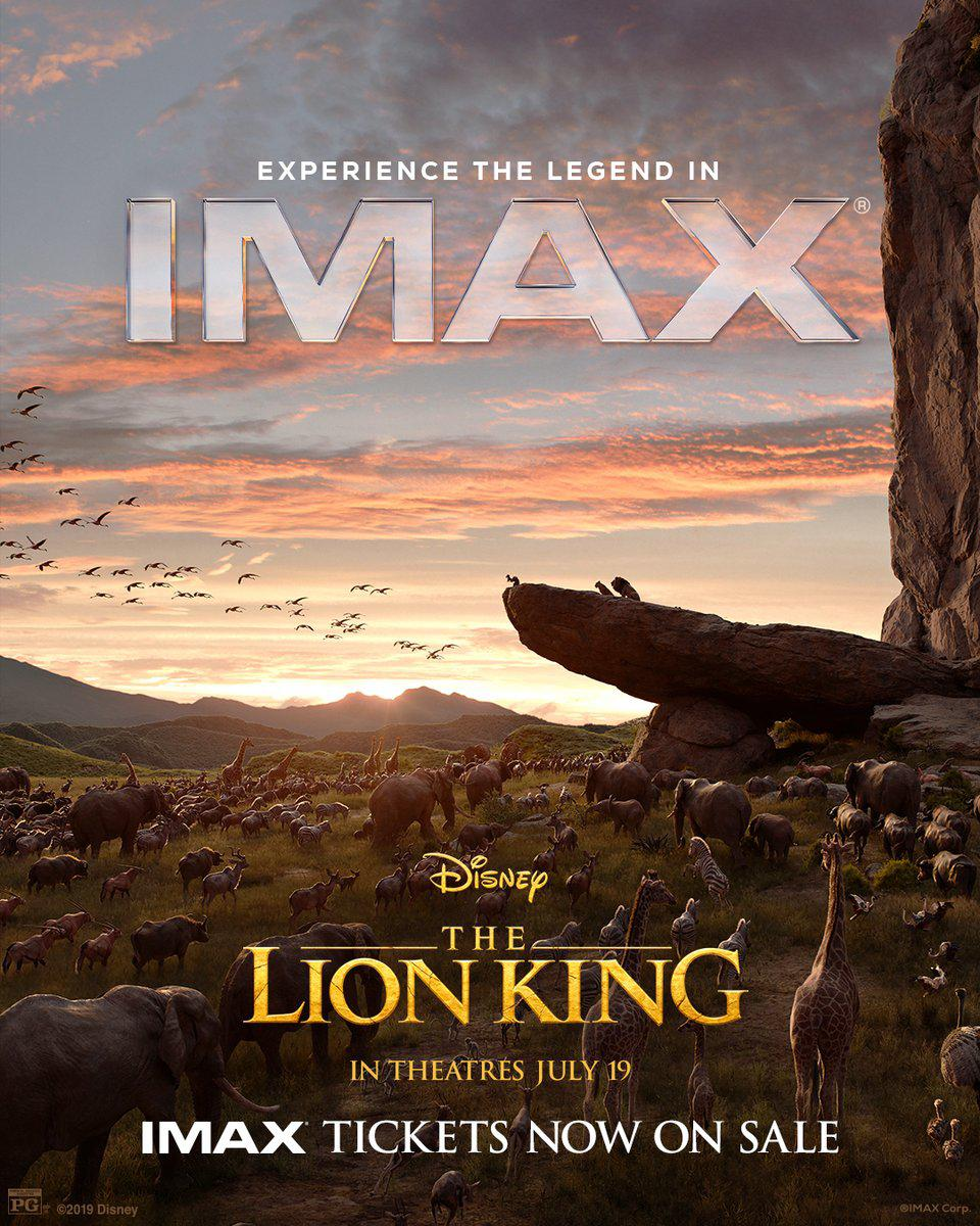 Official IMAX poster for Disney's ″The Lion King″