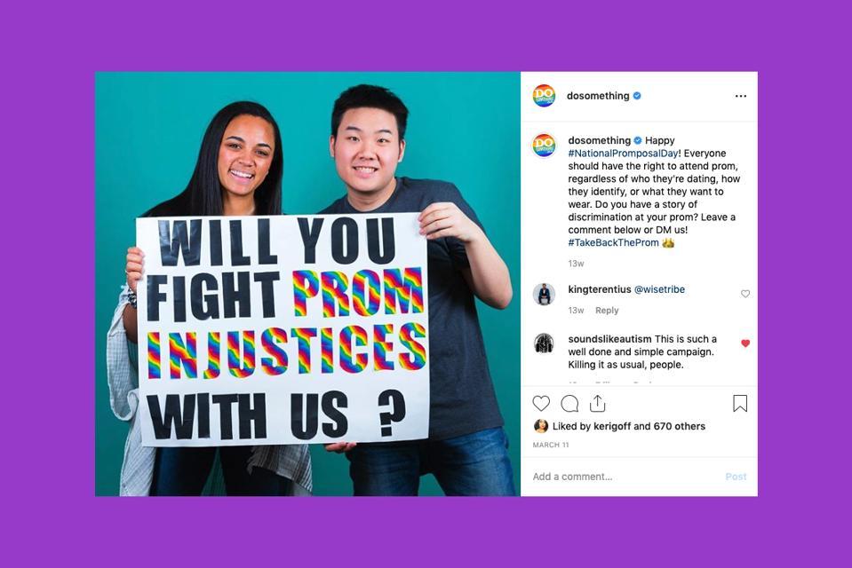 Propagačný obrázok z DoSomething na Instagrame.