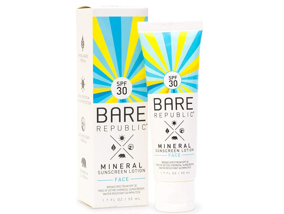 Mineral Sunscreen Lotion for Face from BARE REPUBLIC