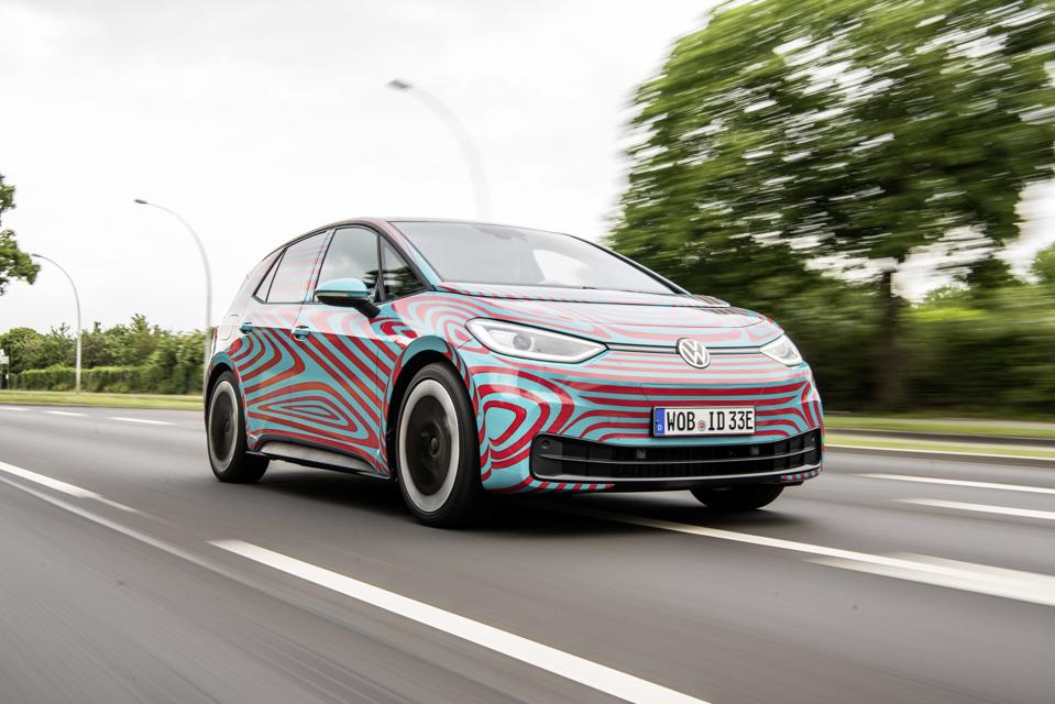 The 2020 Volkswagen ID3 is the first of a broad range of vehicles being launched off the company's MEB electric vehicle architecture