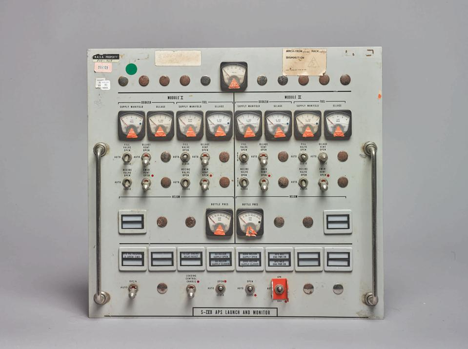 Apollo firing room control panel to be offered in Sotheby's Space Exploration sale.
