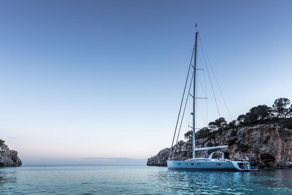 Winch loves sailing his own Jeanneau 64 in the Med.