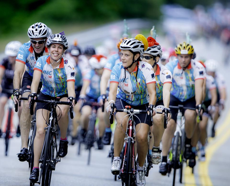 Riders in the Pan-Mass Challenge