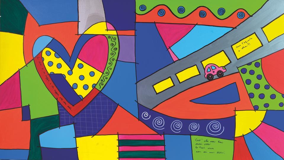 alentina Maragnani, Viaggio a Colori, 2011, Acrylic on Canvas.