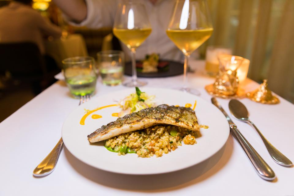 New York - Grilled Sea Bass at Boulud Sud
