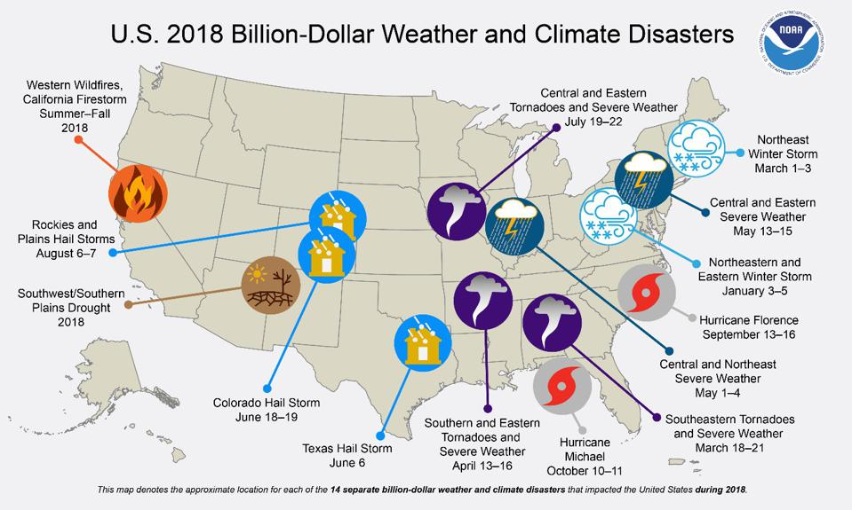 Weather and climate disasters in 2018