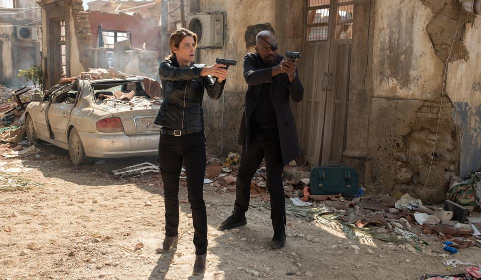Cobie Smulders and Samuel L. Jackson star in ″Spider-Man: Far From Home″