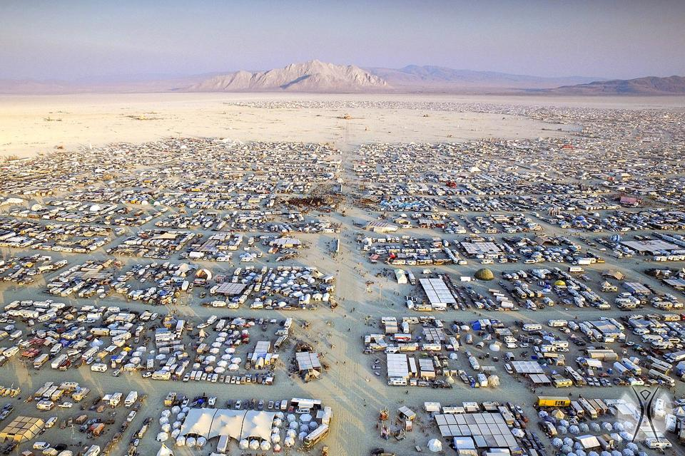 Aerial View of Burning Man / Black Rock City