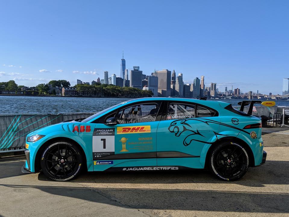 Jaguar i-Pace e-Trophy electric race car