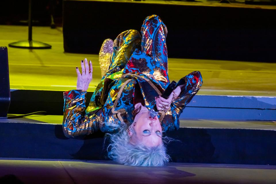 Cyndi Lauper, Hollywood Bowl, review, bee sting, True Colors, Girls Just Wanna Have Fun