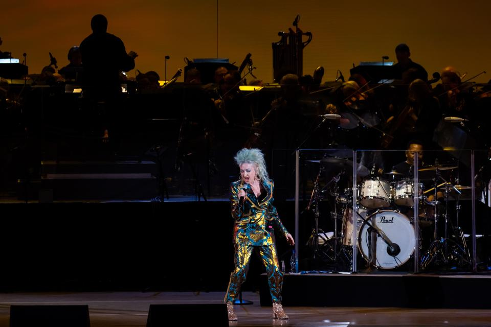 Cyndi Lauper, Hollywood Bowl, bee sting, review, Time After Time, She Bop, True Colors