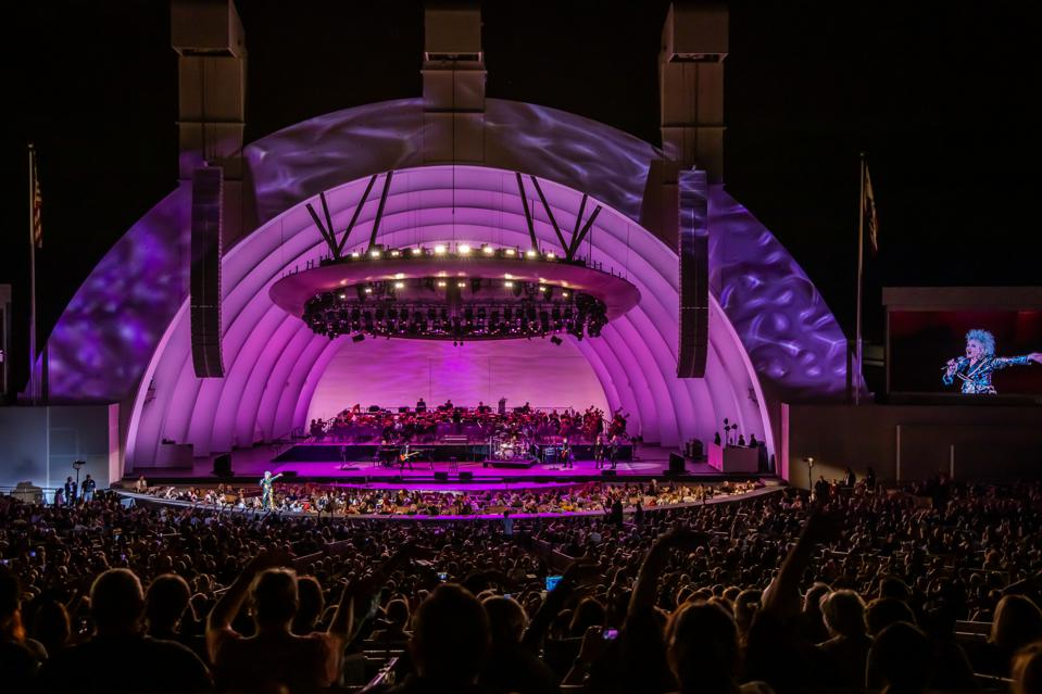 Cyndi Lauper, Hollywood Bowl, bee sting, review, Time After Time, She Bop, live, Goonies