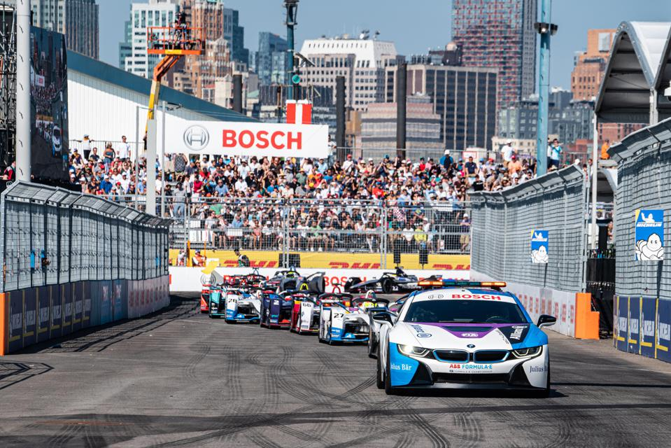 2019 NYC E-Prix, an all-electric race series.
