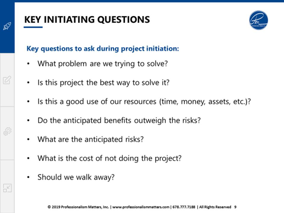 Consider these questions to help vet a project idea