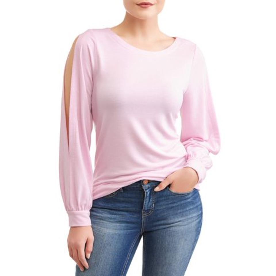 Time and Tru Women's Split Sleeve Sweatshirt