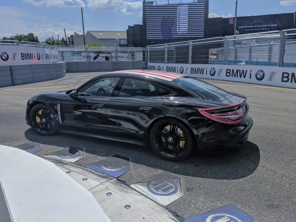 2020 Porsche Taycan prototype at the 2019 New York E-Prix