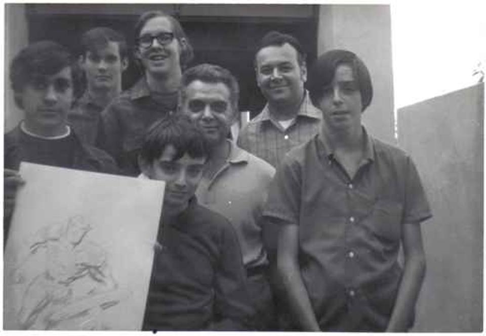 Comic-Con founder with Jack Kirby, 1969