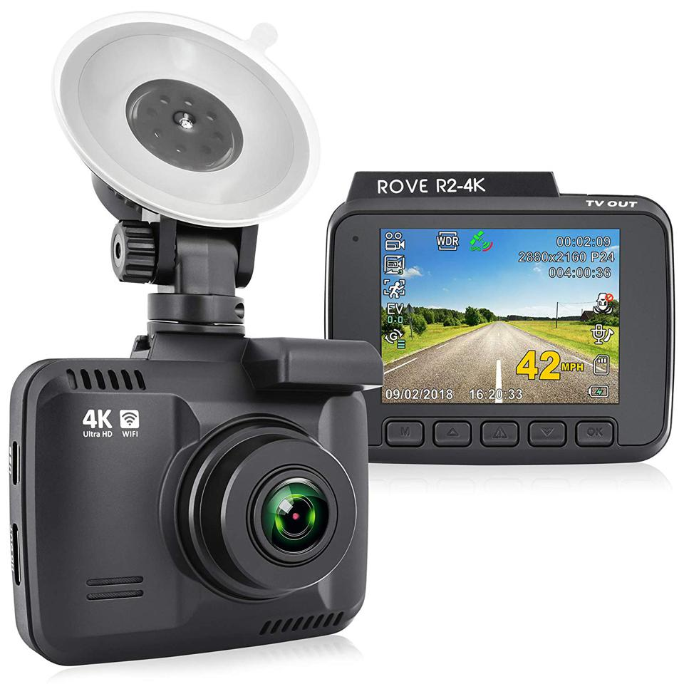 The Rove 4K wifi dash cam ups the quality with UHD recording.