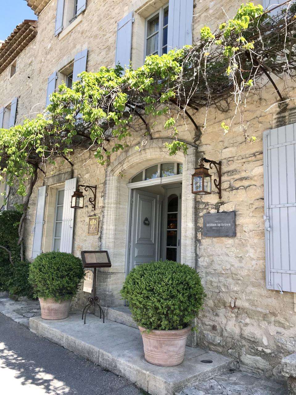 Entrance of Hotel Crillon Le Brave