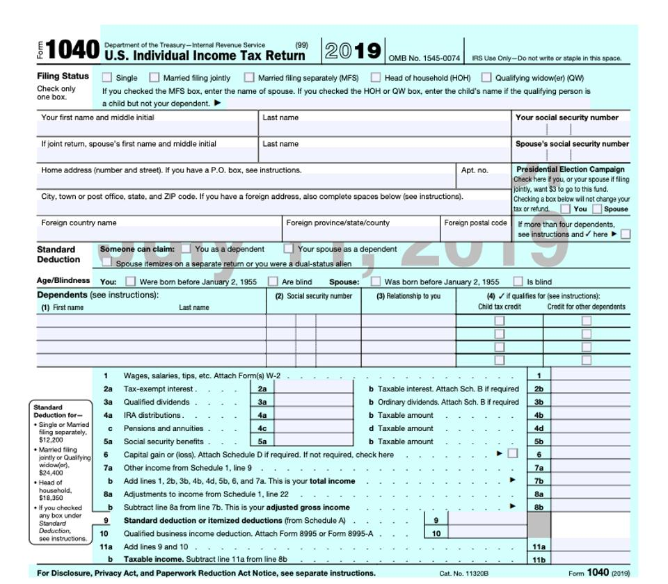 Everything Old Is New Again As IRS Releases Form 1040 Draft