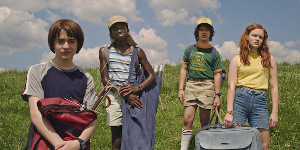 From L-R: Noah Schnapp, Caleb McLaughlin, Gaten Matarazzo and Sadie Sink of the Netflix hit series 'Stranger Things.'