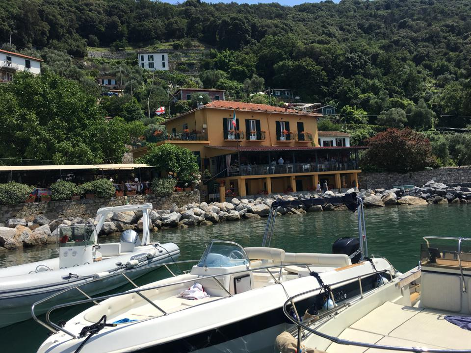 he Locanda Lorena on Palmaria Island off the coast of Portovenere.
