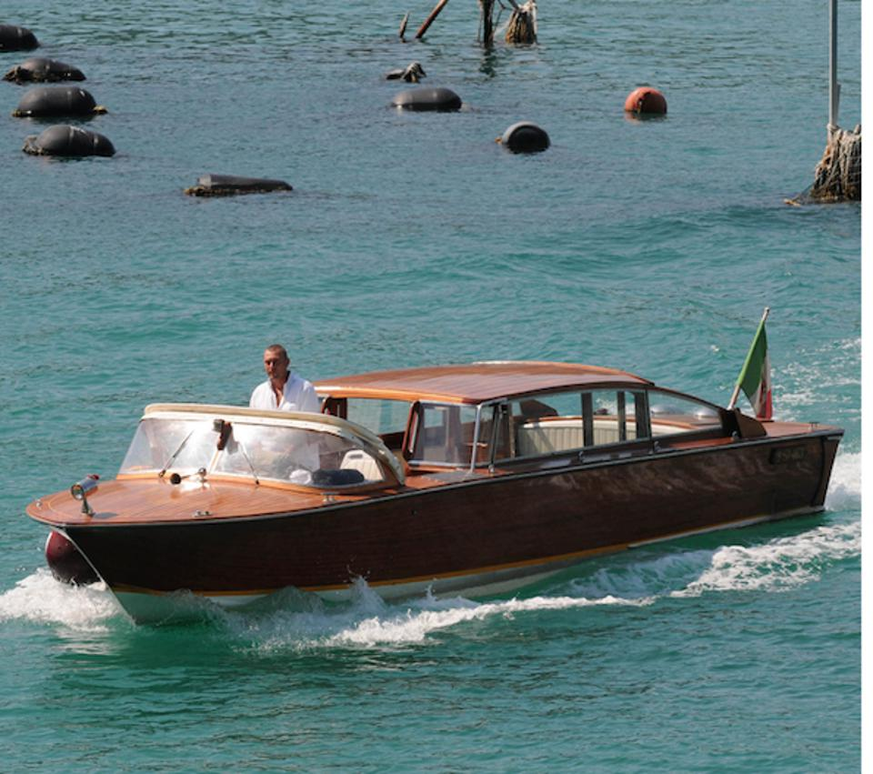 The Locanda Lorena's water taxi shuttles guests to the restaurant.