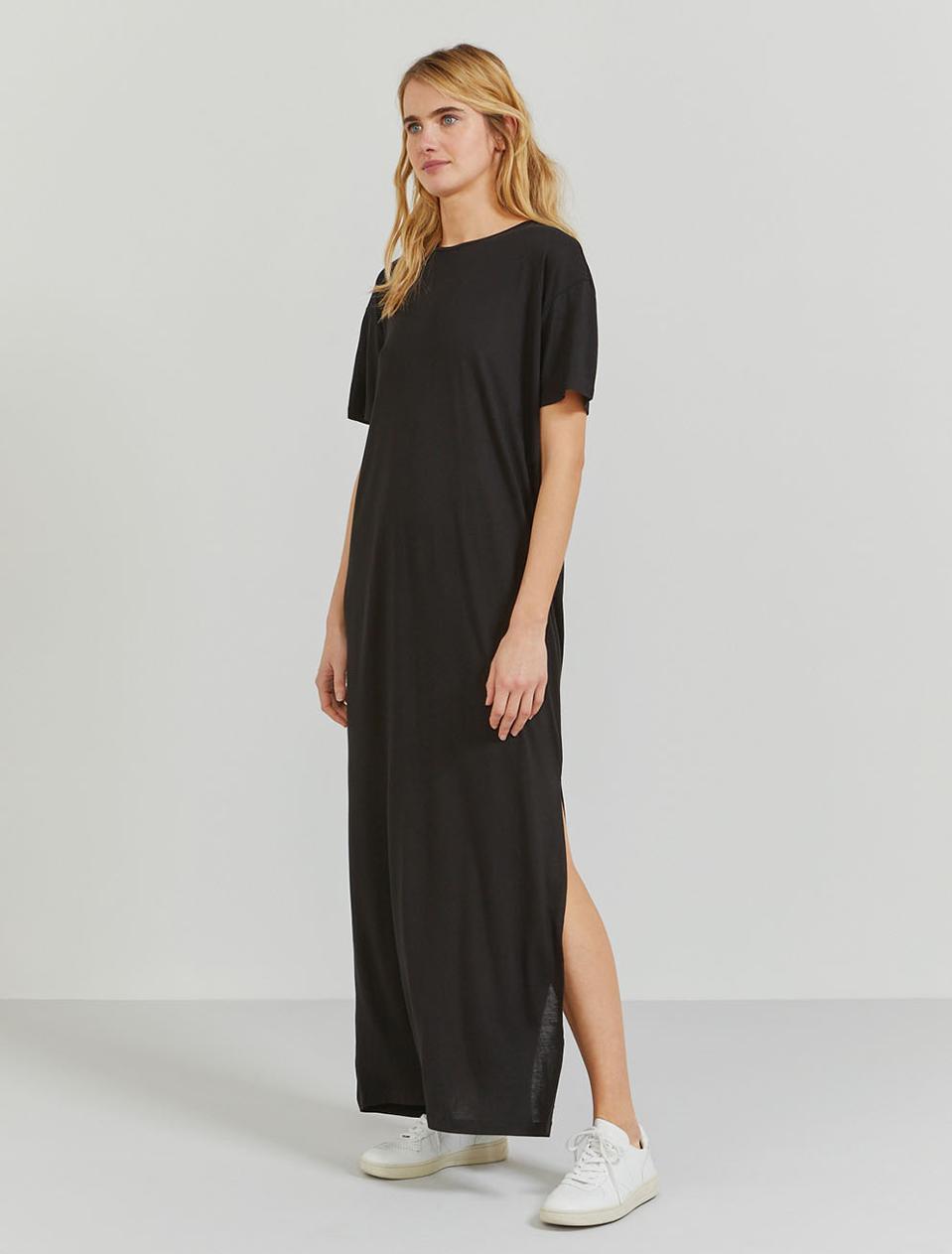 Ninety Percent Open-Back Tencel Maxi Dress