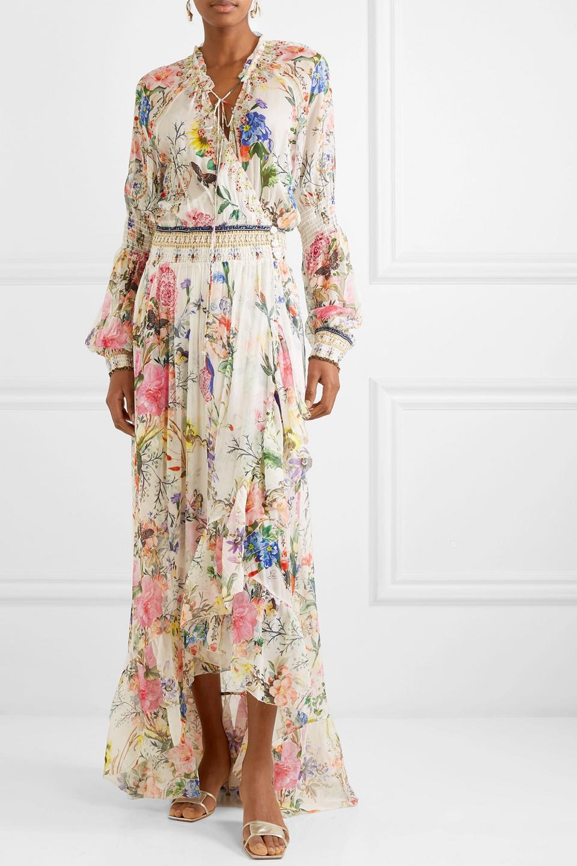 RHODE Delilah Fringe-Trimmed Cotton Dress