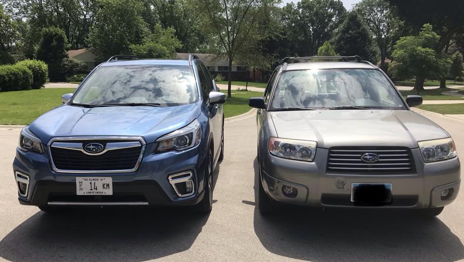 Subaru Forester comparison front view